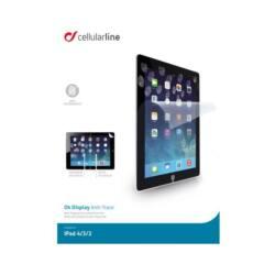 Cellularline Képernyővédő fólia, ULTRA GLASS, tükröződésmentes, iPad 2, iPad 3, iPad 4