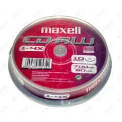 MAXELL CD lemez CD-RW80 10db/henger 4x Újraírható