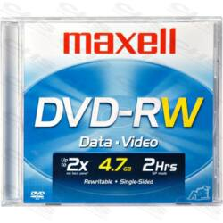 MAXELL DVD lemez -RW 4.7GB 2x Normál tok Újraírható