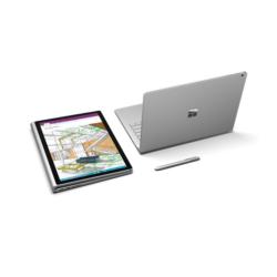 "Microsoft Surface Book - 13.5"" (3000 x 2000) - Core i5 (6th Gen, HD520) dGPU - 8 GB RAM - 256 GB SSD Windows 10 Pro Eng"