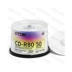 TDK CD lemez CD-R80 52x 50db/Henger Nyomtatható