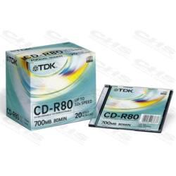 TDK CD lemez CD-R80 Slim tok Gyártott