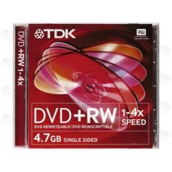 TDK DVD lemez +RW 4.7GB 4x Slim tok Újraírható