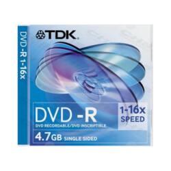 TDK DVD lemez +R 4.7GB 16x SLIM Tok