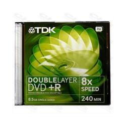 TDK DVD lemez +R DL 8.5GB Normál tok Dual Layer